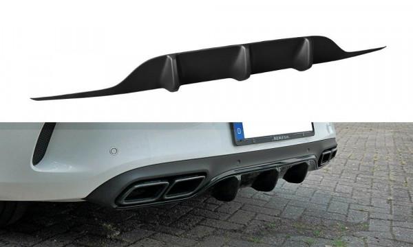 Diffusor Heck Ansatz Passend Für Mercedes C-Klasse C205 63 AMG Coupe Carbon Look