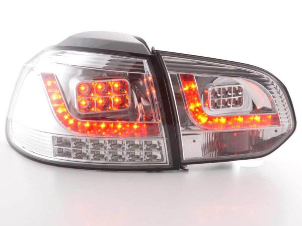 LED Rückleuchten Set VW Golf 6 Typ 1K 2008-2012 chrom mit Led Blinker