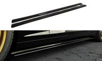 Seitenschweller Ansatz Passend Für CHEVROLET CAMARO V SS - US, EU VERSION (vor Facelift) Schwarz Mat