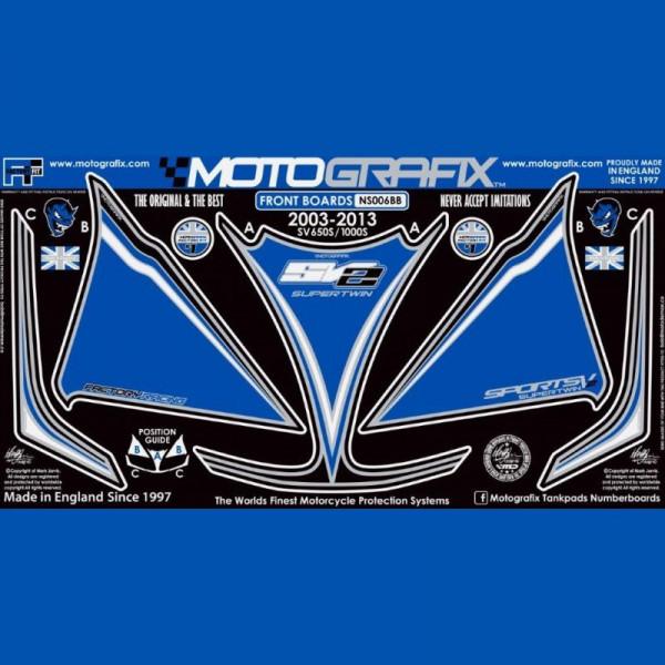 Motografix Steinschlagschutz vorn Suzuki SV 650 / 1000 NS006BB 2003-2013