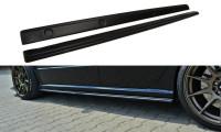 Seitenschweller Ansatz Passend Für Skoda Fabia RS Mk1 Schwarz Hochglanz