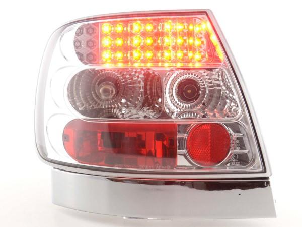 LED Rückleuchten Set Audi A4 Limousine Typ B5 Bj. 95-00 chrom