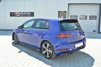 Seitenschweller Ansatz Für VW GOLF 7 R Facelift Schwarz Matt