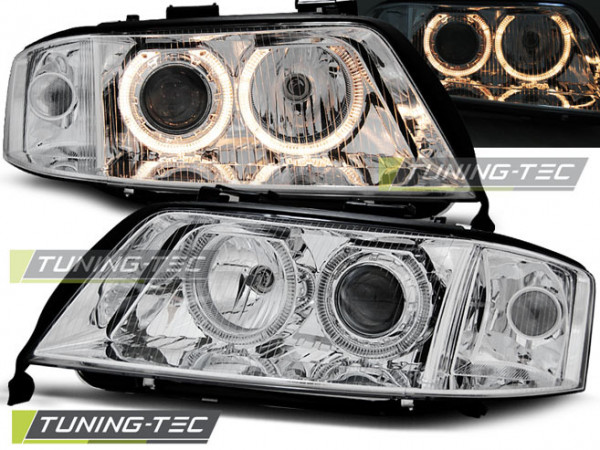 Scheinwerfer Angel Eyes chrom passend für Audi A6 05.97-06.01