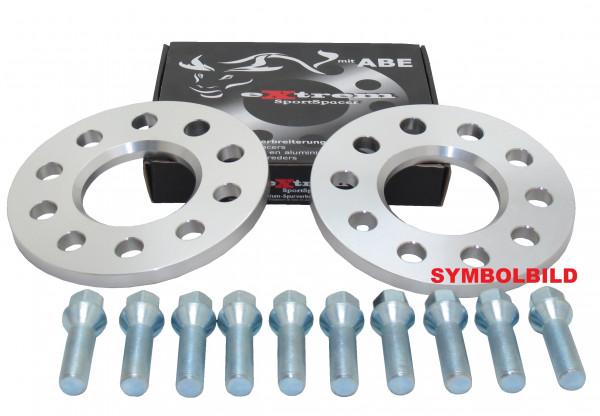 Spurverbreiterung Set 10mm inkl. Radschrauben für Mercedes C-Klasse W204 / S204