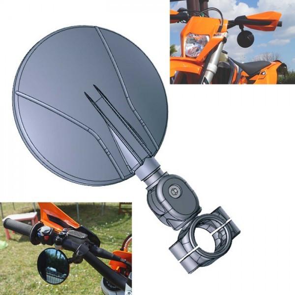 SUMO-Spiegel Flexi 7699   ABS   Schwarz   Stck   Klemmung 22-24   verstellbar   Ø 105mm   E-geprüft
