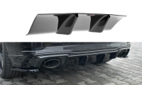 Diffusor Heck Ansatz Für Audi RS3 8V FL Sportback Schwarz Hochglanz