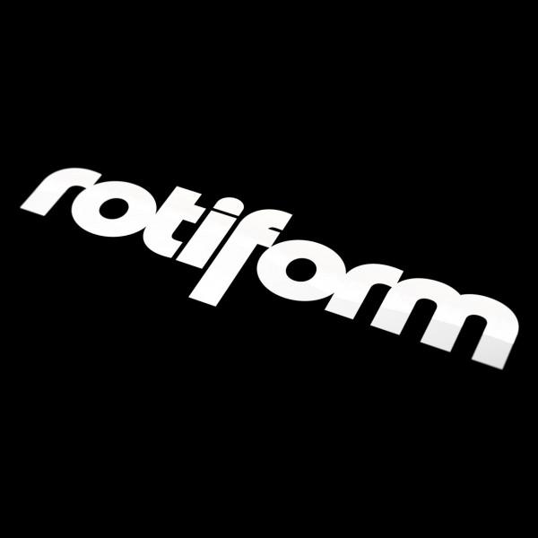 Rotiform Aufkleber Weiß - groß