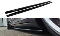 Seitenschweller Ansatz Passend Für AUDI S8 D3 Schwarz Matt