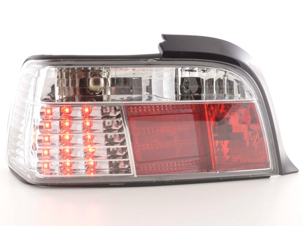 LED Rückleuchten Set BMW 3er Coupe Typ E36 Bj. 91-98 chrom
