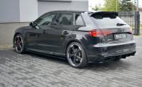 Seitenschweller Ansatz Für Audi RS3 8V FL Sportback Schwarz Hochglanz