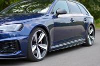 Seitenschweller Ansatz Für Audi RS4 B9 Schwarz Hochglanz