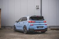Mittlerer Diffusor Heck Ansatz DTM Look Für Hyundai I30 N Mk3 Hatchback Schwarz Hochglanz