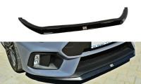 Front Ansatz Passend Für V.2 Ford Focus RS Mk3 Schwarz Matt