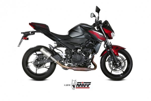 Mivv MK3 Edelstahl Racing Kawasaki Ninja 400 19-
