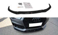 Front Ansatz Passend Für V.1 Audi RS7 C7 FL Schwarz Matt