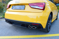Mittlerer Diffusor Heck Ansatz Für Audi S1 8X Schwarz Hochglanz