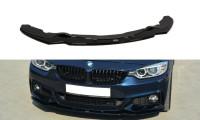 Front Ansatz Passend Für V.1 BMW 4er F32 M Paket Schwarz Hochglanz