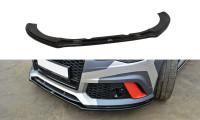 Front Ansatz Passend Für V.1 Audi RS6 C7 / C7 FL Schwarz Hochglanz