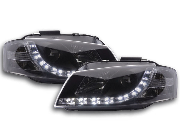 Scheinwerfer Set Daylight LED TFL-Optik Audi A3 Typ 8P 03-07 schwarz