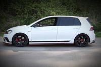 Seitenschweller Ansatz Für VW GOLF Mk7 GTI CLUBSPORT Schwarz Hochglanz