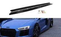 Seitenschweller Ansatz Passend Für Audi R8 Mk.2 Schwarz Matt