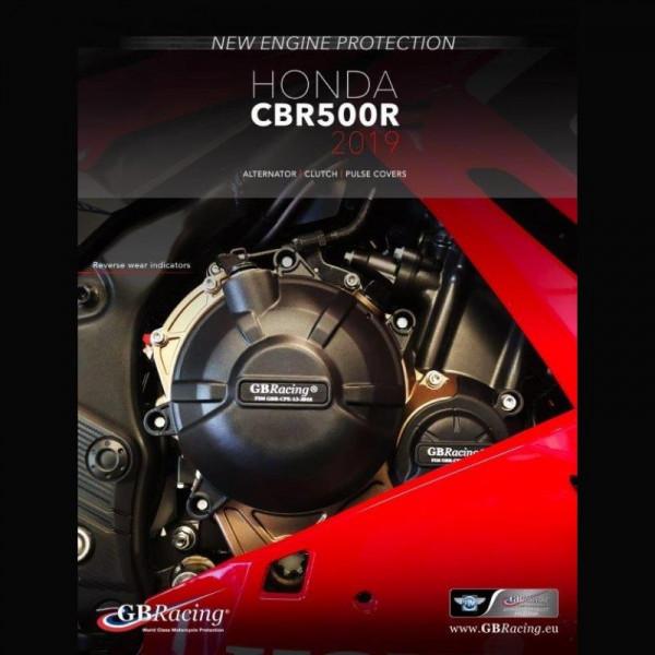 GB Racing Motor Protektor Set Honda CBR 500 R 2019- / CB 500 F / X 2019-