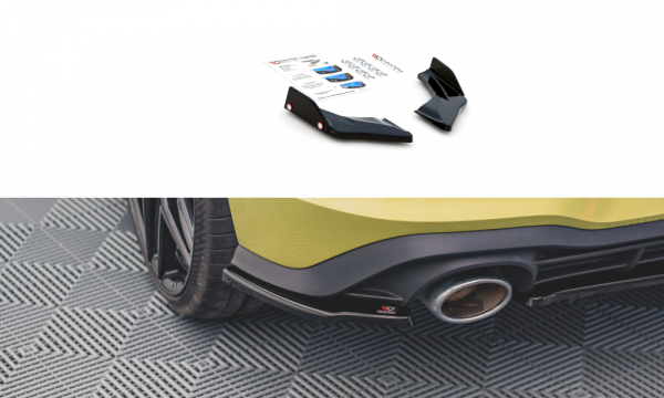 Heck Ansatz Flaps Diffusor V.2 Für Volkswagen Golf 8 GTI Clubsport Carbon Look