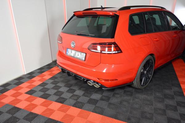 Diffusor Heck Ansatz Für VW GOLF 7 R VARIANT FACELIFT Schwarz Matt