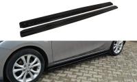 Seitenschweller Ansatz Passend Für MAZDA 3 MK2 SPORT (vor Facelift) Schwarz Hochglanz