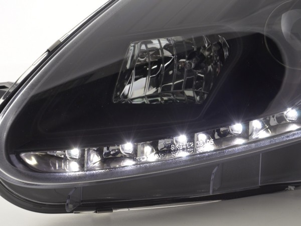 Scheinwerfer Set Daylight LED TFL-Optik Fiat Grande Punto Typ 199 Bj. 05-08 schwarz