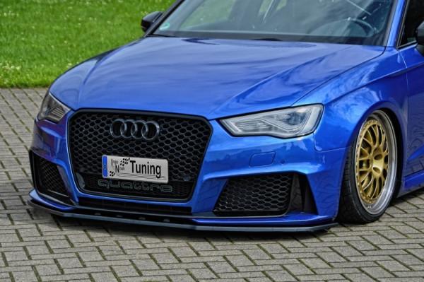 CUP Spoilerschwert Frontspoilerlippe Cuplippe für Audi RS3 8V Sportback ABE