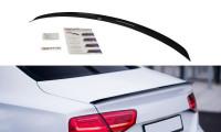 Spoiler CAP Passend Für Audi A8 D4 Schwarz Hochglanz