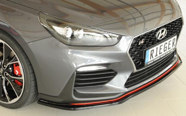 Rieger Spoilerschwert glanz schwarz für Hyundai i30 N-Performance (PDE) 5-tür. (Schrägheck) 07.17-
