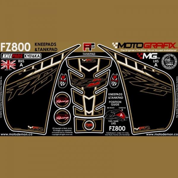 Motografix Tankschutz Knie Pads YAMAHA FZ800 FZ8 N 2010- KY016KA