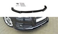 Front Ansatz Passend Für V.1 Audi S3 8P FL Schwarz Hochglanz