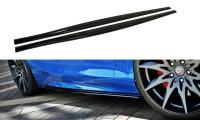 Seitenschweller Ansatz Passend Für BMW 1er F20/F21 M-Power Facelift Schwarz Matt