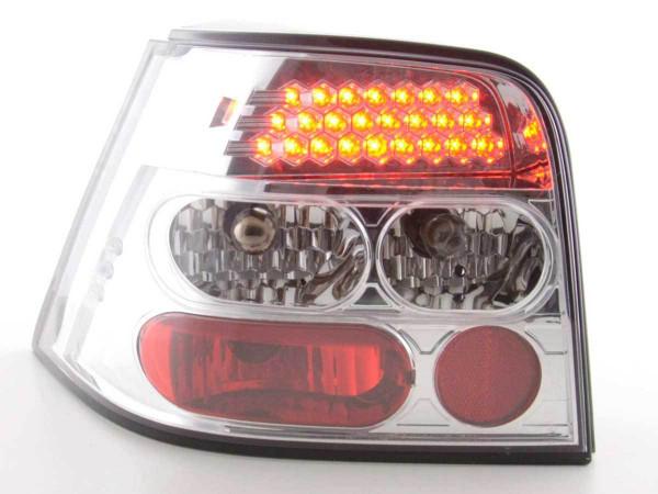 LED Rückleuchten Set VW Golf 4 Typ 1J 98-02 chrom