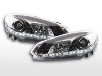 Scheinwerfer Set Daylight LED Tagfahrlicht VW Golf 6 Typ 1K 08- chrom