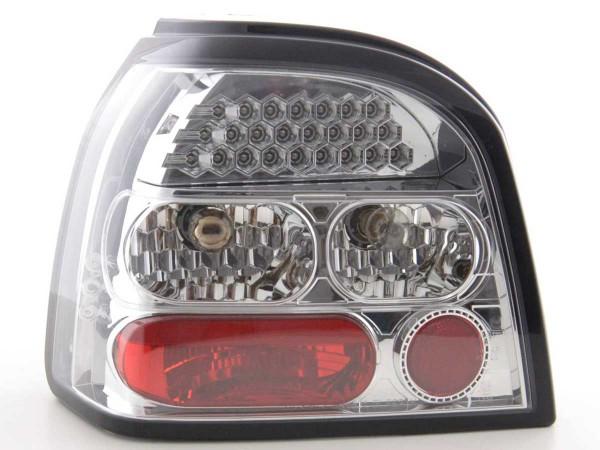 LED Rückleuchten Set VW Golf 3 Typ 1HXO Bj. 92-97 chrom