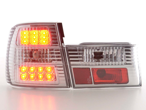 LED Rückleuchten Set BMW 5er Typ E34 88-94 chrom