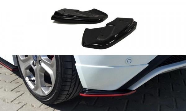 Heck Ansatz Flaps Diffusor Passend Für Passend Für Ford Fiesta ST / ST-Line Mk7 FL Schwarz Hochglanz