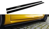Seitenschweller Ansatz Passend Für RENAULT MEGANE 3 RS Schwarz Matt