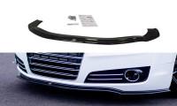 Front Ansatz Passend Für V.1 Audi A8 D4 Schwarz Hochglanz