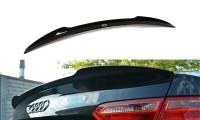 Spoiler CAP Passend Für Audi S5 / A5 / A5 S-Line 8T / 8T FL Coupe Schwarz Hochglanz