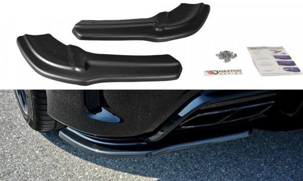 Heck Ansatz Flaps Diffusor Passend Für Mercedes A W176 AMG Facelift Schwarz Hochglanz