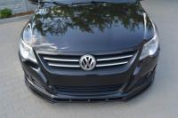 Front Ansatz Für VW PASSAT CC Vor Facelift, STANDARD STOßSTANGE Schwarz Matt