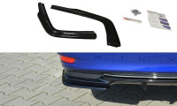 Heck Ansatz Flaps Diffusor Passend Für Lexus GS Mk4 Facelift H Schwarz Hochglanz