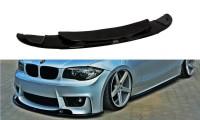 Front Ansatz Passend Für BMW 1er E87 M-Design Schwarz Hochglanz