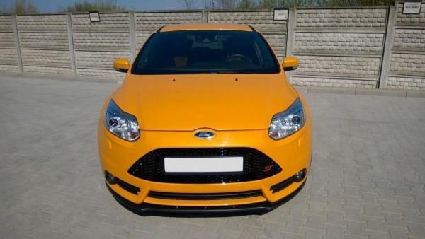 Front Ansatz V.1 Für Ford Focus ST Mk3 Schwarz Hochglanz